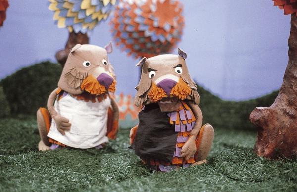 De Fabeltjeskrant. Ed en Willem Bever. Foto 3 Televisiehelden