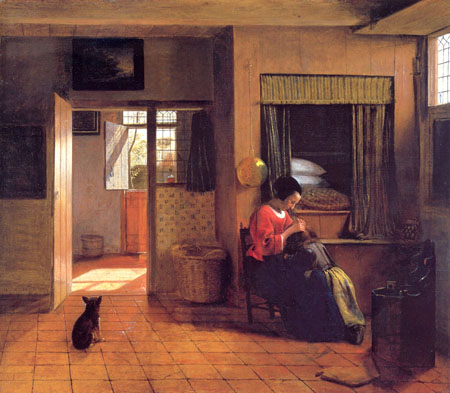 Pieter-de-Hooch-XX-A-Mother-and-Child-with-Its-Head-in-Her-Lap-1658-1660-XX-Rijksmuseum-Amsterdam
